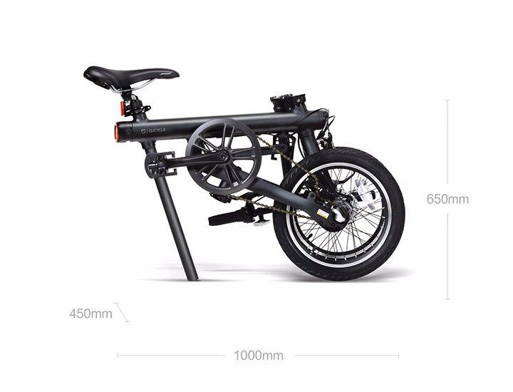 Электровелосипед  Xiaomi (Mi) Mijia QiCycle в сложенном состоянии